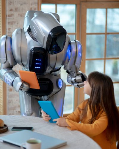 AI Robot with tablet